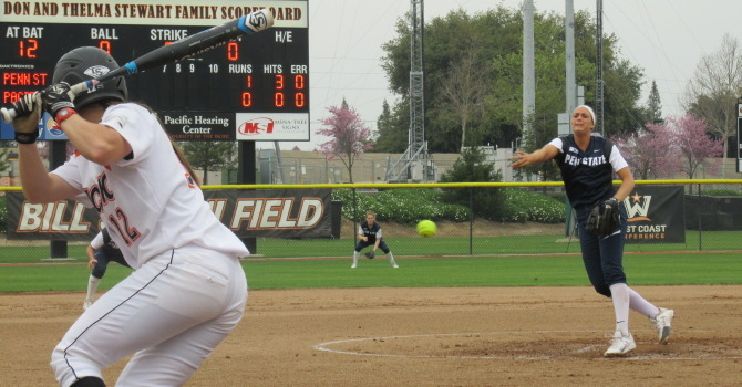 Softball Splits Twinbill with Pacific in NorCal - Penn State