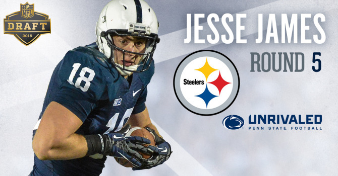 Pittsburgh Selects Penn State TE Jesse James in Fifth Round of the ...