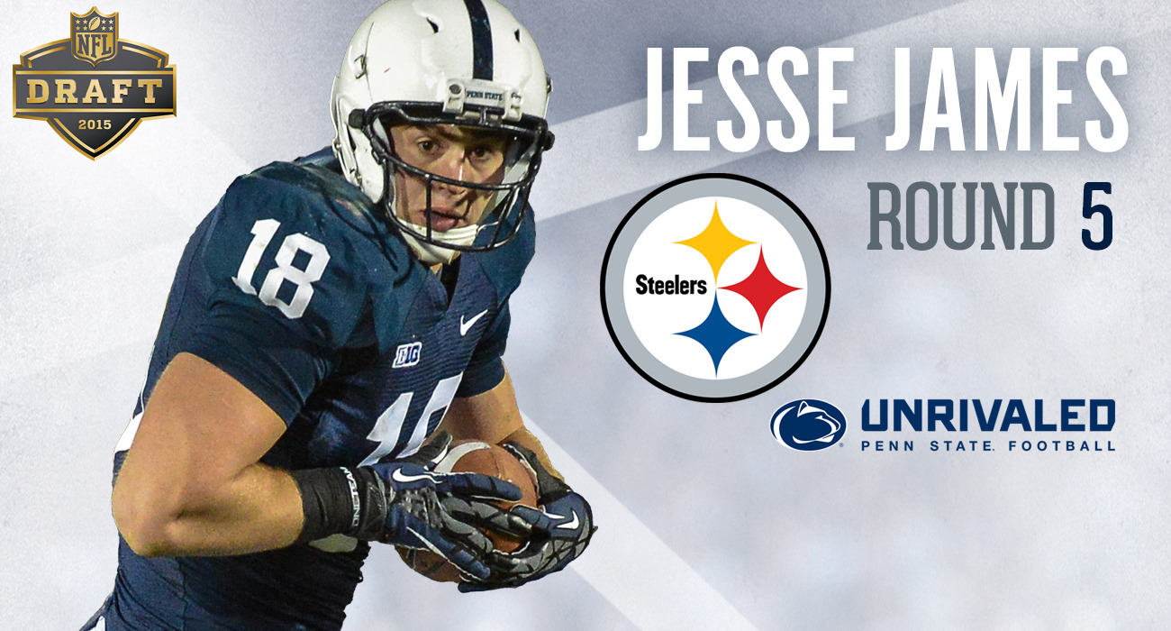 e19f1c9a Pittsburgh Selects Penn State TE Jesse James in Fifth Round of the ...