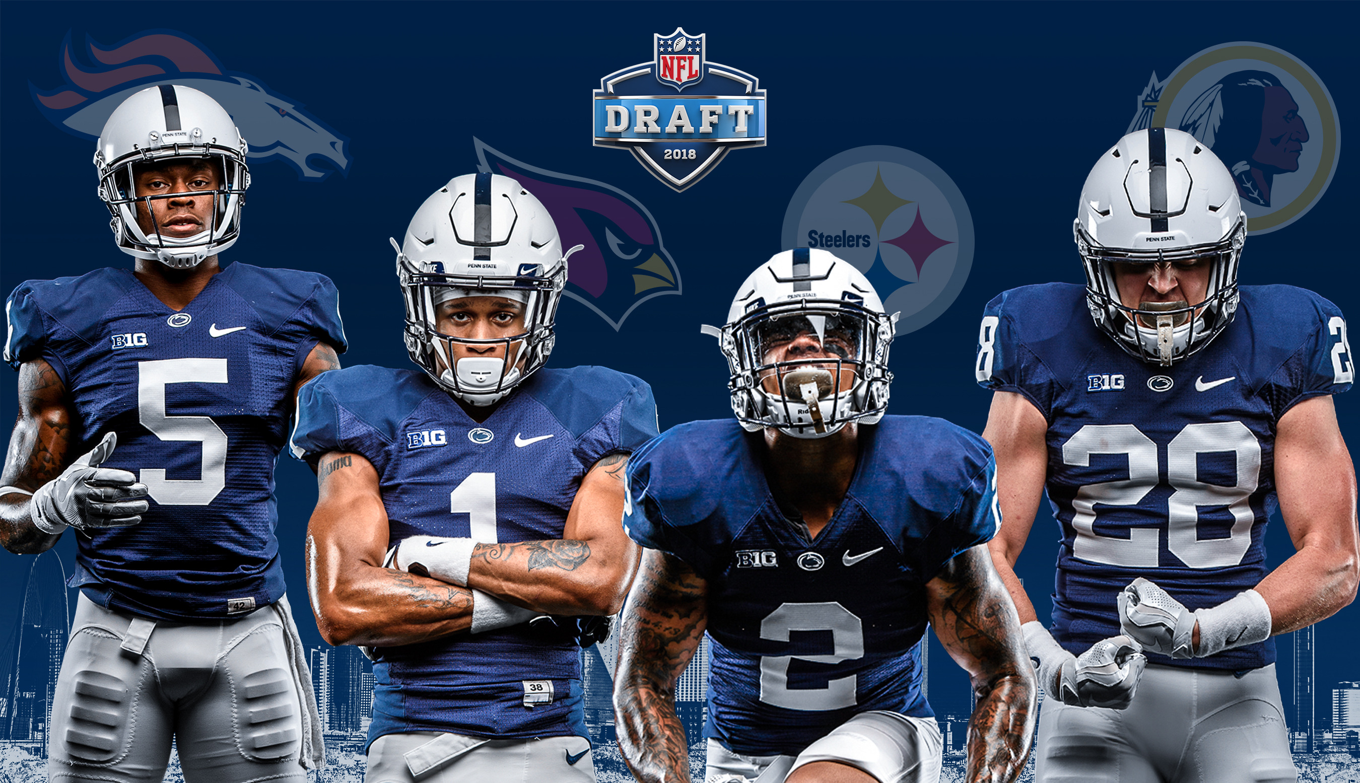 3325b95ce Four Lions Selected on Day 3 of 2018 NFL Draft - Penn State ...