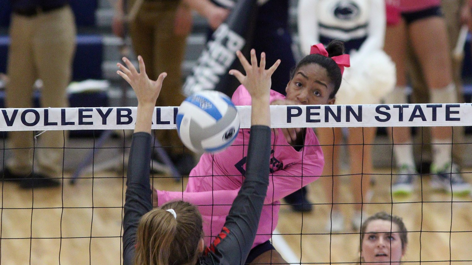 No 8 Penn State Erases Seven Point Deficit In Set One Sweeps Michigan State Penn State University Athletics