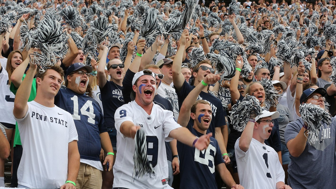 da57441d626 Penn State students cheer on the Nittany Lions against Appalachian State on  Sept. 1,