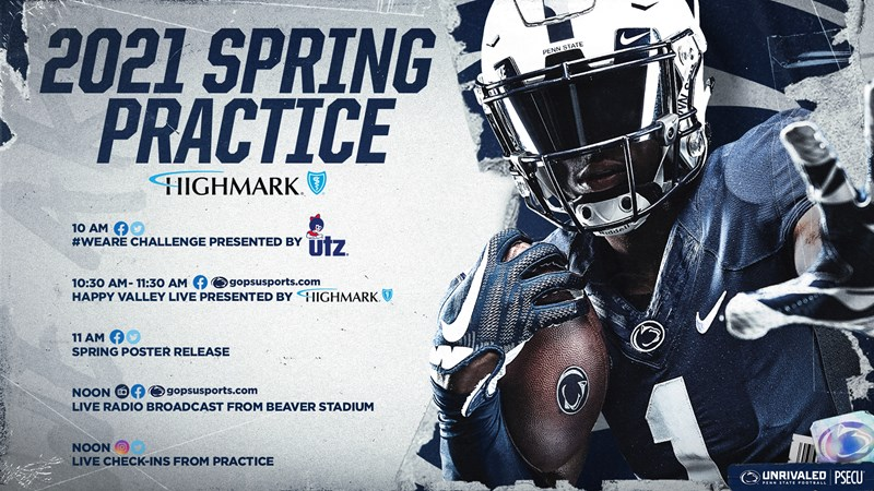 Penn State Announces Virtual Initiatives for April 17 Practice - Penn State University Athletics